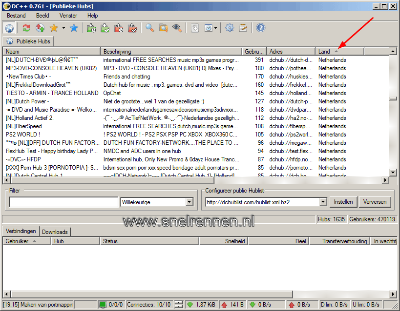 dc13 - Downloaden met Direct Connect / DC++