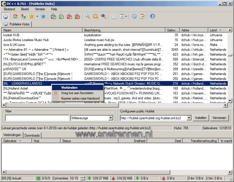 dc15 - Downloaden met Direct Connect / DC++