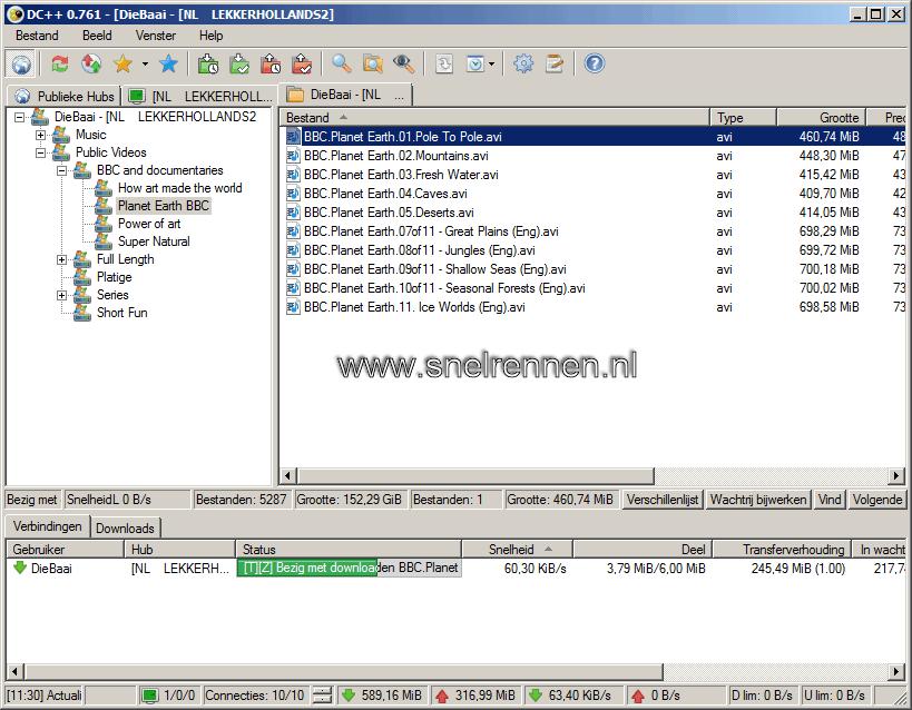 DC++:  bestand downlaoden
