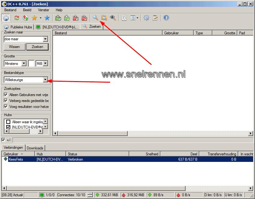 dc20 - Downloaden met Direct Connect / DC++