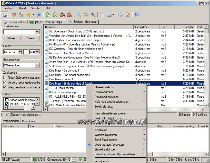 dc21 - Downloaden met Direct Connect / DC++