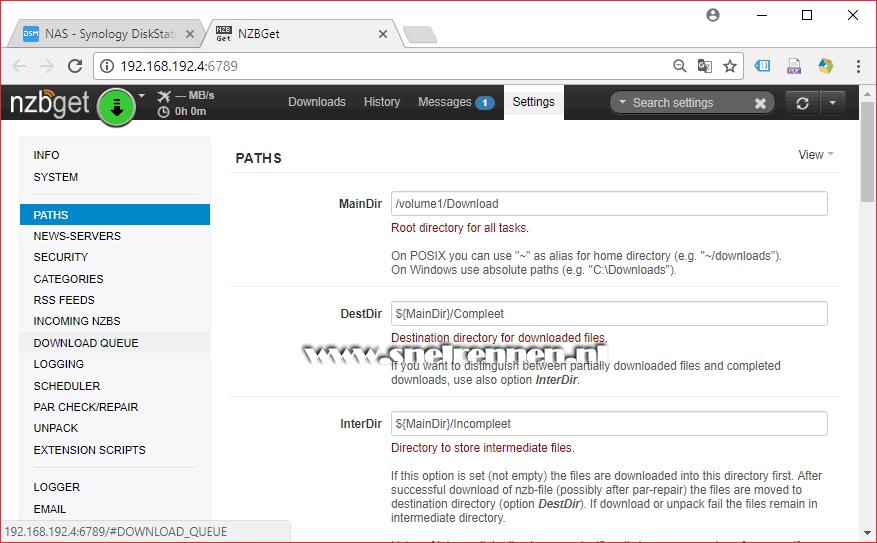 NZBGet handleiding   NZBGet configureren, deel 1